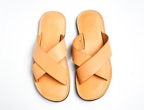Dr.Sole x OGL 天然牛皮交叉拖鞋 US 9