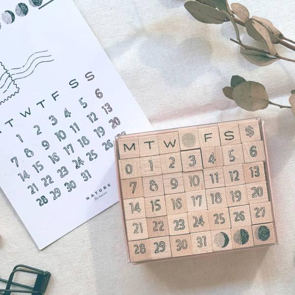 Day By Day月曆印章組 [手寫中空] DIY,印章,數字,迪夢奇
