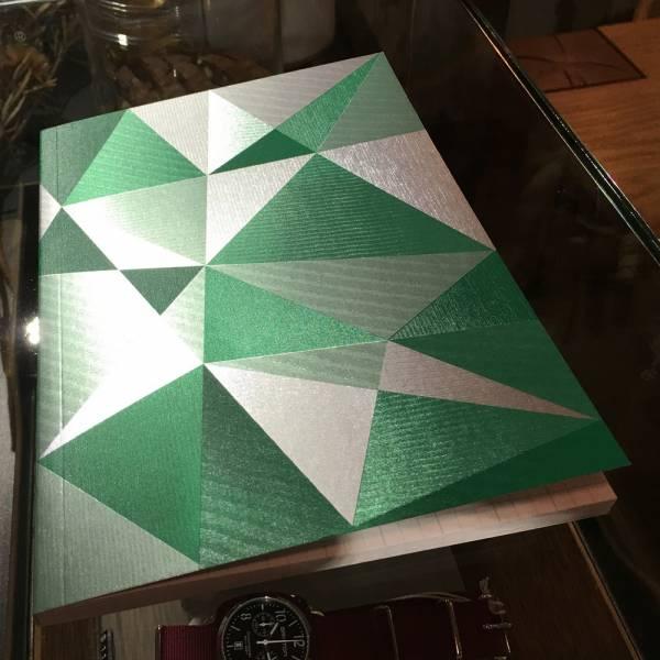 《Nuts》Radiant Notebook 筆記本 [綠] 銀箔,萬花筒,設計,筆記本