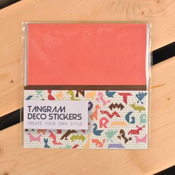 Tangram Deco Stickers 七巧創意貼 [紅] Dimanche,迪夢奇,貼紙,DIY,拼貼