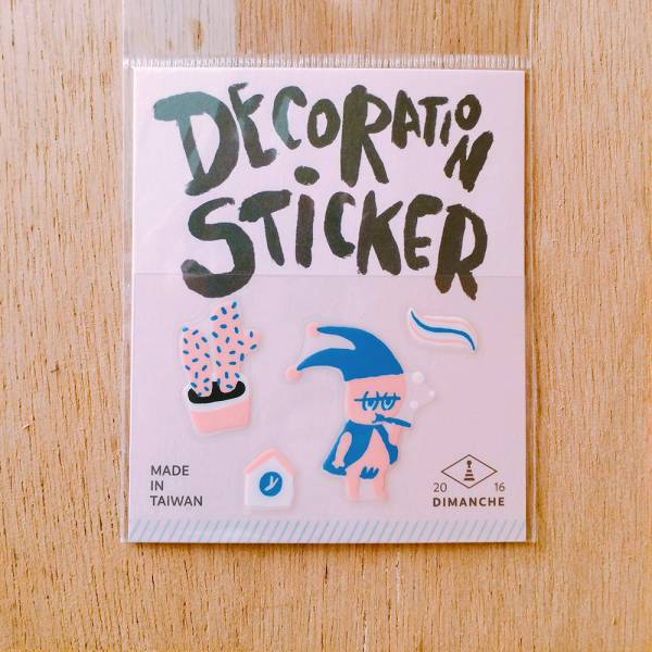 裝飾小貼紙 [小精靈-刷牙] Dimanche,迪夢奇,裝飾,貼紙
