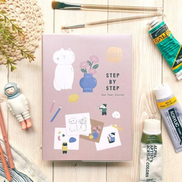 Step by Step 2021年計劃 [繪畫] 2021,時效日誌,8分割,迪夢奇
