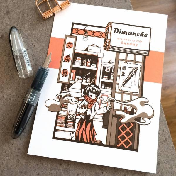 鋼筆可書寫之明信片 [文房具] Dimanche,迪夢奇,鋼筆,明信片