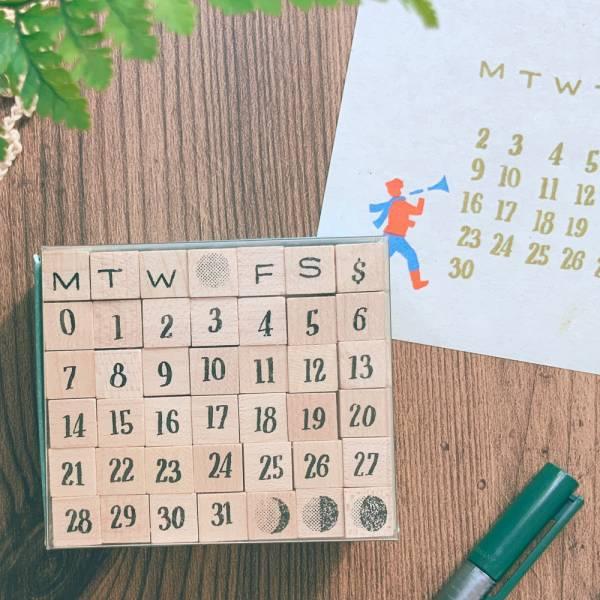 Day By Day月曆印章組 [手寫實心] DIY,印章,數字,迪夢奇