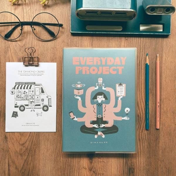 Everyday Project 每日專案誌 v.3 [藍綠] Dimanche,迪夢奇,專案管理,專利,週計畫