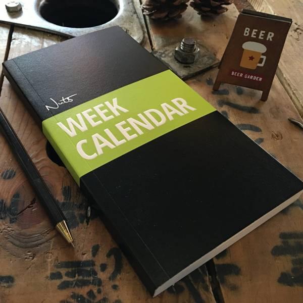《Nuts》Week Calendar 週計畫 [綠] 週計畫,口袋,設計