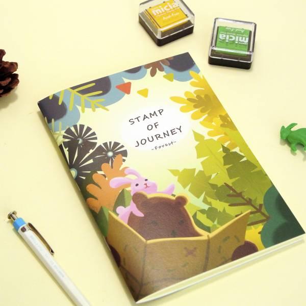 Stamp of Journey 探險集章隨身本 [森林尋寶] Dimanche,迪夢奇,集章,水彩,鋼筆,素描