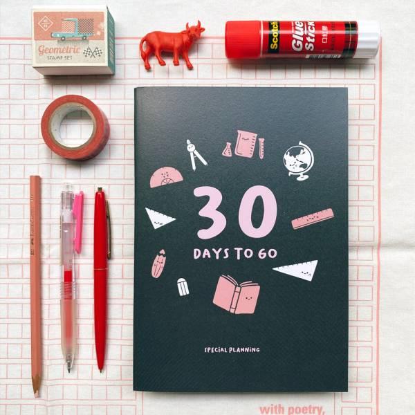 30天倒數計畫本 [純黑款/紅] Dimanche,迪夢奇,倒數,規劃,考試