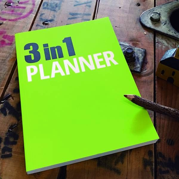 《Nuts》3in1 Planner 筆記本 [綠] 3 in 1,可撕,筆記本,設計