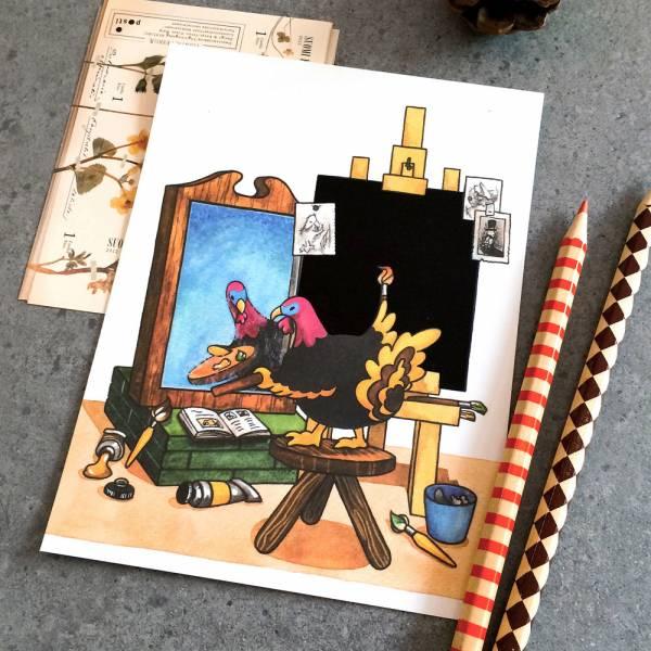 鋼筆可書寫之感溫明信片 [Turkey] Dimanche,迪夢奇,明信片,鋼筆,感溫