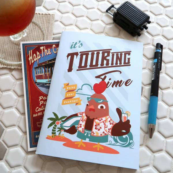 鋼鋼好旅遊計畫本 [衝浪雞] Dimanche,迪夢奇,鋼筆,旅遊,票根