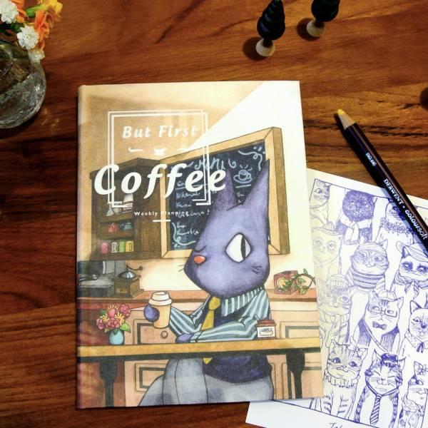 But First Coffee 隨身日誌 [內用] Dimanche,迪夢奇,週計畫,咖啡,貓