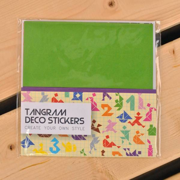 Tangram Deco Stickers 七巧創意貼 [綠] Dimanche,迪夢奇,貼紙,DIY,拼貼