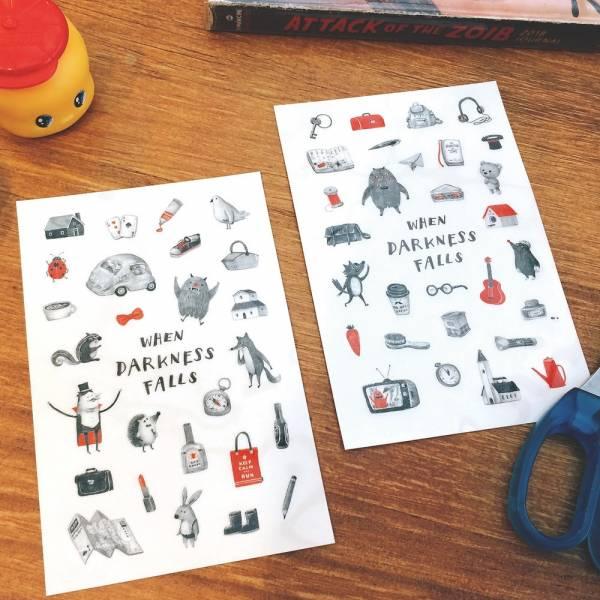 Dimanche感壓貼 [魔術師與他的夥伴] Dimanche,迪夢奇,感壓,手帳,貼紙,DIY