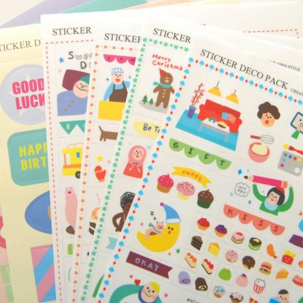 Sticker Deco Pack 裝飾貼紙組 Dimanche,迪夢奇,貼紙,手帳,拼貼