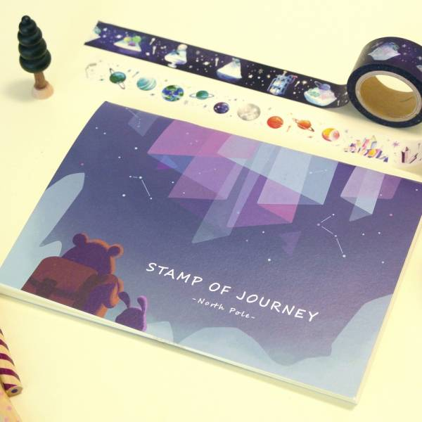 Stamp of Journey 探險集章隨身本 [北極秘境] Dimanche,迪夢奇,集章,水彩,鋼筆,素描