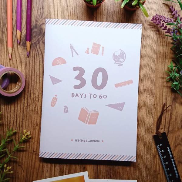 30天倒數計畫本 [冬] Dimanche,迪夢奇,倒數,規劃,考試