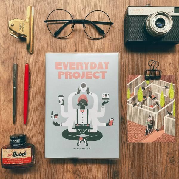 Everyday Project 每日專案誌 v.3 [灰藍] Dimanche,迪夢奇,專案管理,專利,週計畫