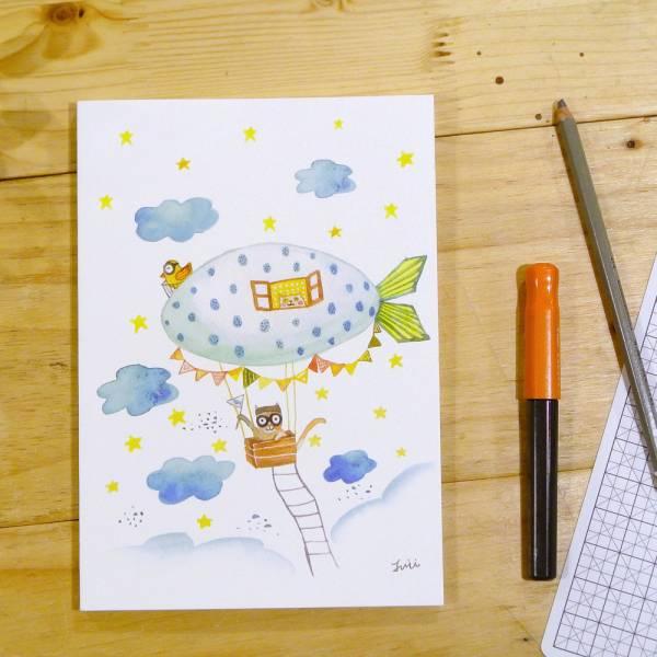 《Nuts》Free160 隨記 - 創作聯名款 [貓咪飛行員] 插畫家,鋼筆,筆記本