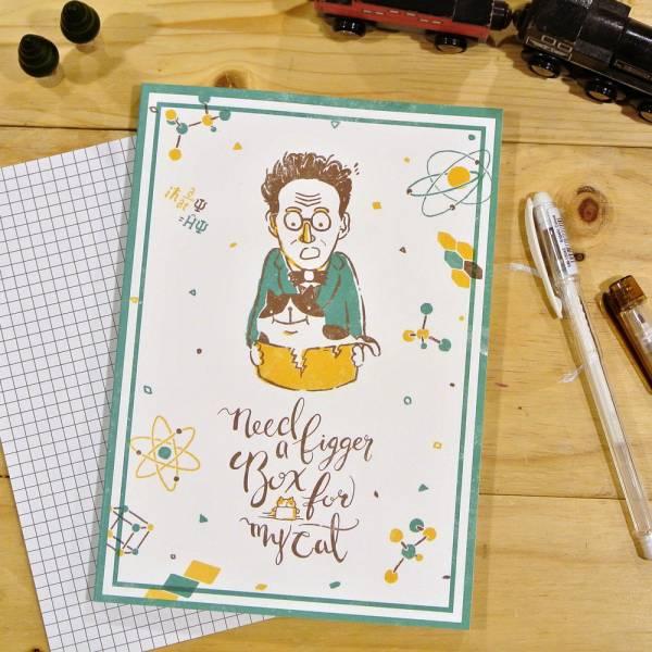 《Nuts》Free160 隨記 - 創作聯名款 [薛丁格先生與他的貓] 插畫家,鋼筆,筆記本