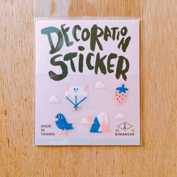 裝飾小貼紙 [幽靈-深山包裹] Dimanche,迪夢奇,裝飾,貼紙