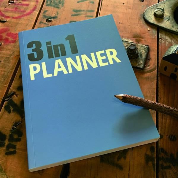 《Nuts》3in1 Planner 筆記本 [藍] 3 in 1,可撕,筆記本,設計