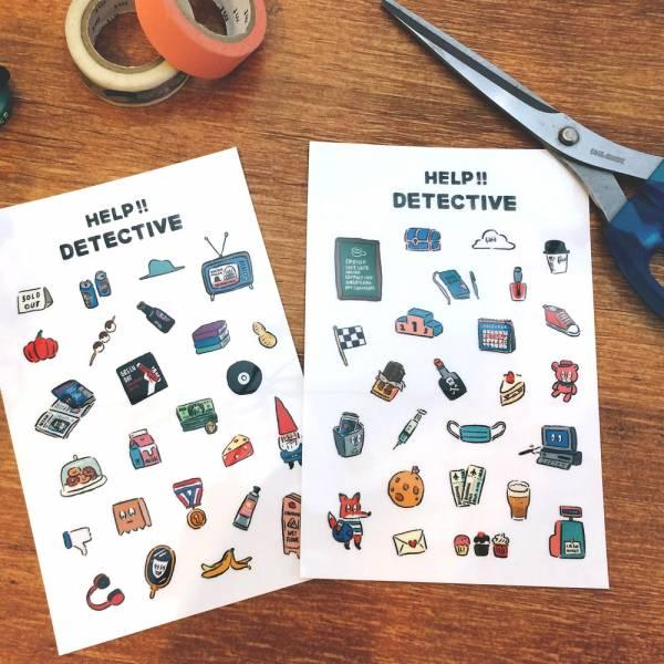 Dimanche感壓貼 [偵探觀察日記] Dimanche,迪夢奇,感壓,手帳,貼紙,DIY