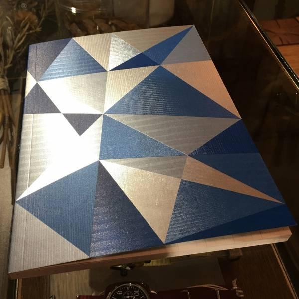 《Nuts》Radiant Notebook 筆記本 [藍] 銀箔,萬花筒,設計,筆記本