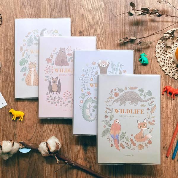 Wildlife 週計劃手帳套組(含月計劃貼紙組) Dimanche,迪夢奇,週計畫, 365, 月計劃貼紙