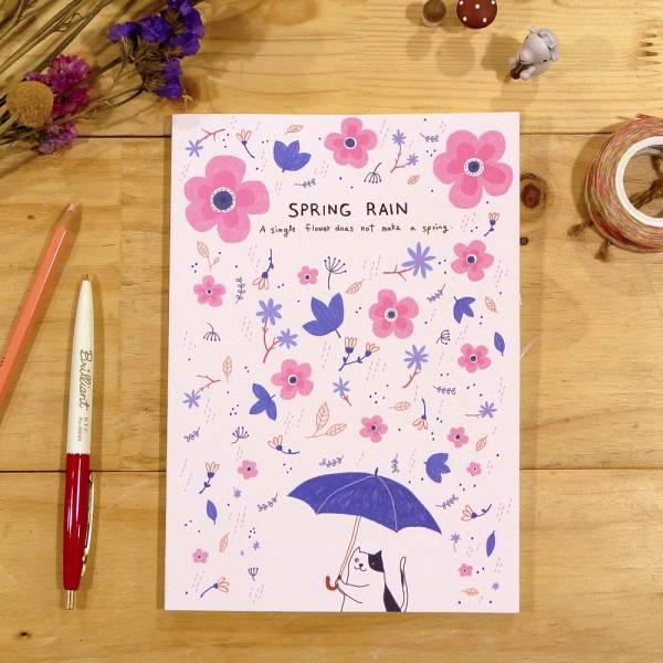 《Nuts》Free160 隨記 - 創作聯名款 [Spring Rain] 插畫家,鋼筆,筆記本