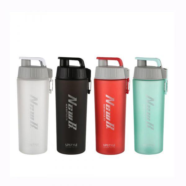 【UPSTYLE】美國進口Tritan™材質 NewB.健身奶昔搖搖杯800ml(附鋼球&重力攪拌球)