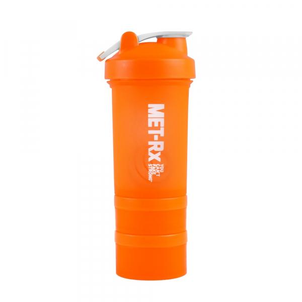 MET-Rx 美瑞克斯450ml/螢光橘 搖搖杯 附鋼球