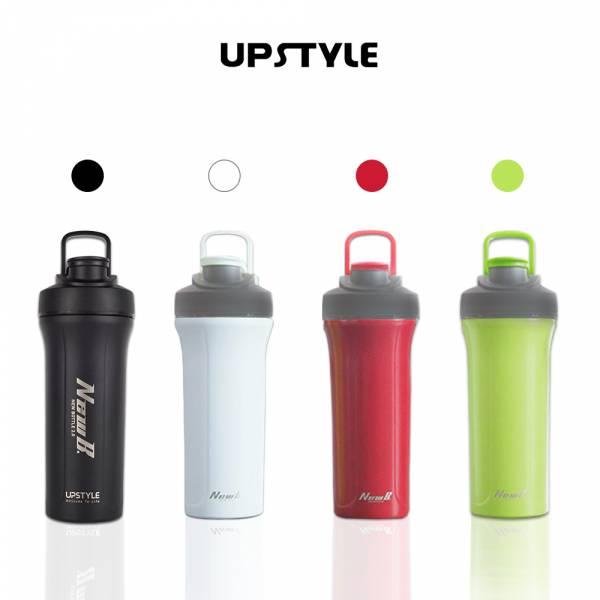 【UPSTYLE】不銹鋼防摔健身搖搖杯 (濾網式) 800ml 共4色