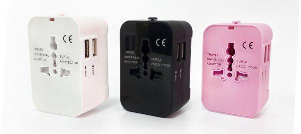 【國際萬用轉接頭】出國轉接頭 國際轉接頭 萬國轉接頭 轉接頭 雙USB插頭 全球通用插頭 多國轉接頭 萬用充電器