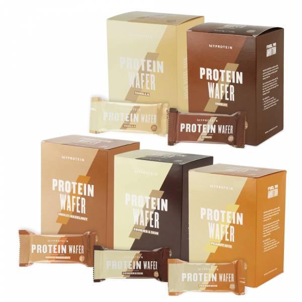 【英國Myprotein】高蛋白威化餅乾 盒裝/10入 (香草/巧克力/淇淋巧酥/榛果巧克力/巧克力花生醬)