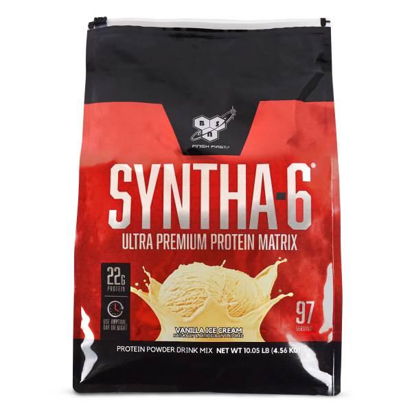 【美國BSN】Syntha-6 勁量低脂複合乳清10磅-(香草/巧克力)