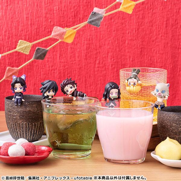 【07月預購】MegaHouse 盒玩 鬼滅之刃 茶友 掛邊公仔 杯緣子 全6種 一中盒6入販售