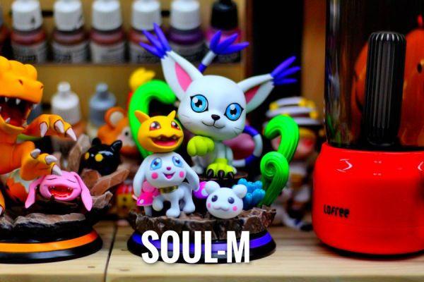 【預購】SOUL-M 數碼寶貝成長期進化小雕像第三彈迪路獸 SOUL-M 數碼寶貝成長期進化小雕像第三彈迪路獸