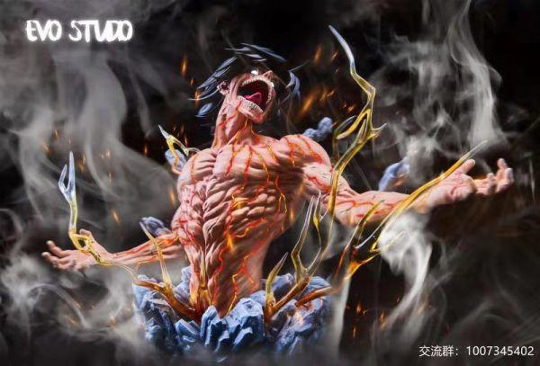 【GK預購】Chikara 力量工作室 進擊的巨人 艾倫 GK雕像 EVO 進擊的巨人半身雕像共鳴系列