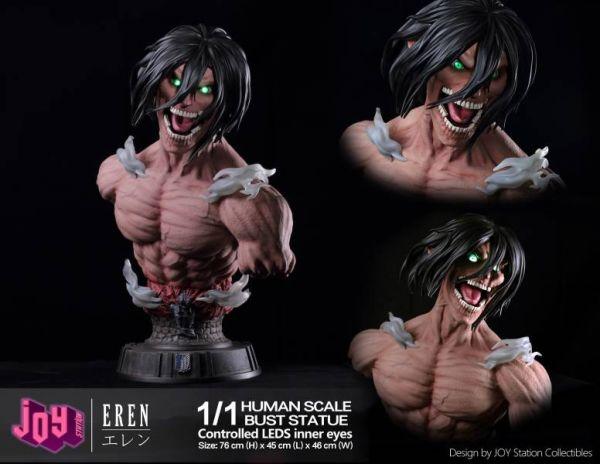 【預購】JS 進擊的巨人 艾倫 胸像 雙比例 1:1 & 1:4 (人類比例) JS 進擊的巨人 艾倫 胸像 雙比例 1:1 & 1:4 (人類比例)