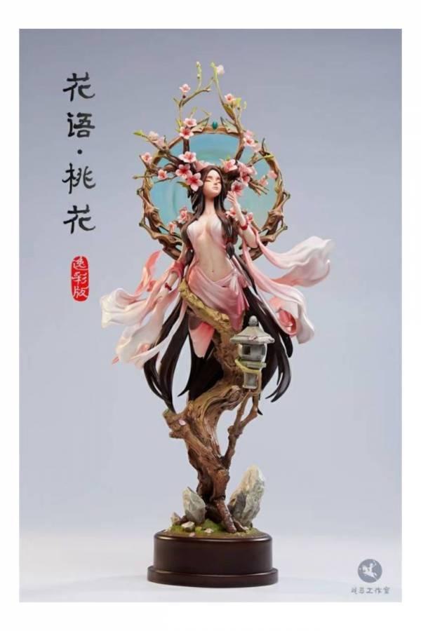 【預購】戰馬工作室 原創雕像作品《花語.桃花》 逸彩版 戰馬工作室 原創雕像作品《花語.桃花》 逸彩版