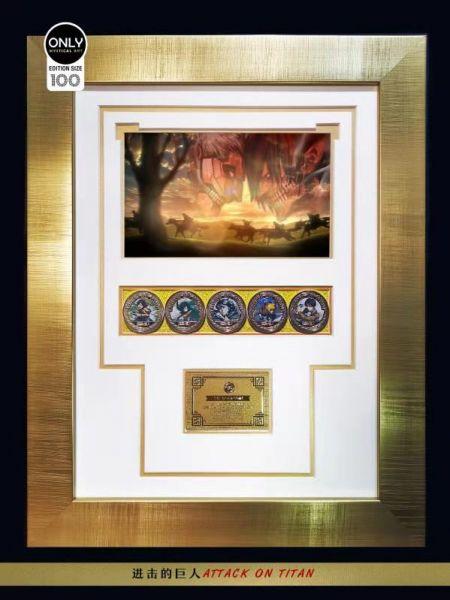 【預購】日本漫畫珍藏鍍金紀念幣第六彈! 哆啦A夢/進擊的巨人兩款 日本漫畫珍藏鍍金紀念幣第六彈! 哆啦A夢/進擊的巨人兩款