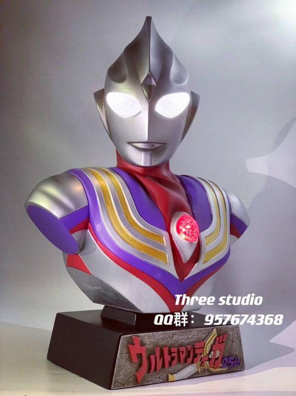 【預購】叁工作室 鹹蛋超人 奧特曼 迪伽胸像 叁工作室 鹹蛋超人 奧特曼 迪伽胸像