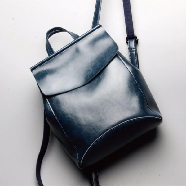 真皮油蠟後背包 韓版時尚牛皮大容量旅行後背包 簡約女用背包-MK040 真皮油蠟後背包 韓版時尚牛皮大容量旅行後背包 簡約女用背包-MK040