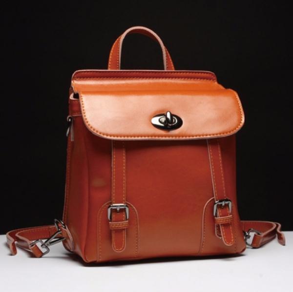 韓版時尚真皮後背包 #MK019