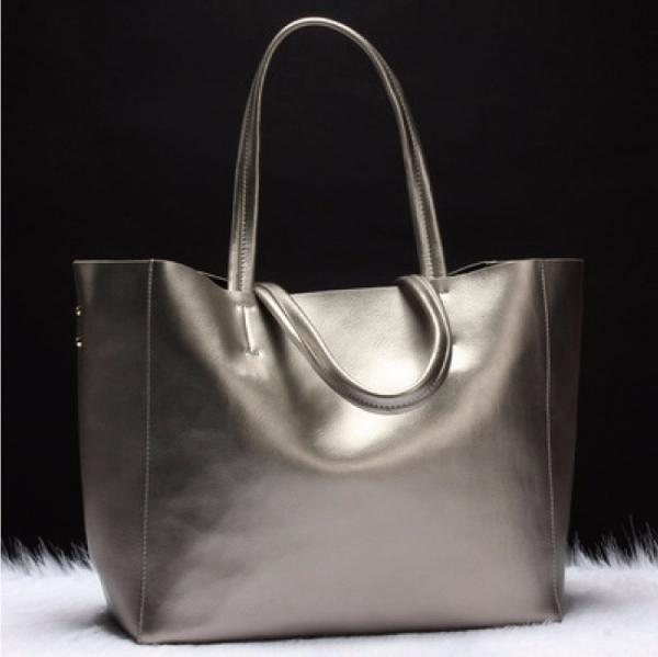 歐美時尚真皮女包 大容量購物袋 肩背手提包 #MK001