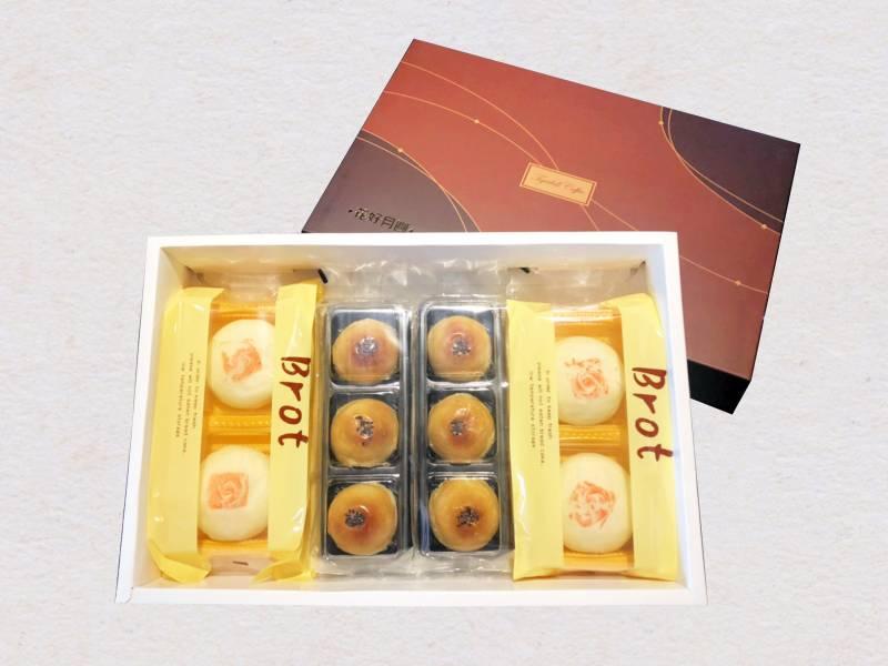 [綜合]  綠豆椪4入+菠蘿蛋黃酥6入/盒