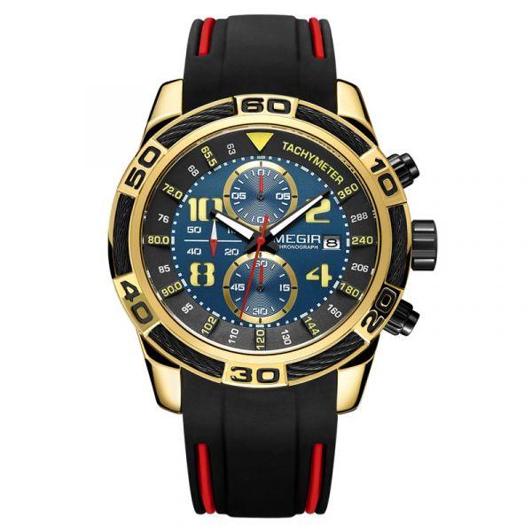霸氣十足 運動真三眼 MG2045 腕錶,手錶,男錶,三眼錶,