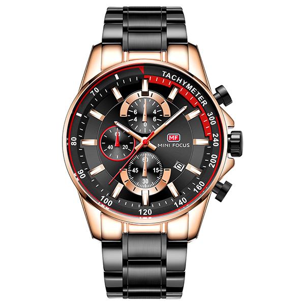 極速傳奇 真三眼鋼帶腕錶 MF0218 腕錶,手錶,男錶,三眼錶,運動,鋼帶