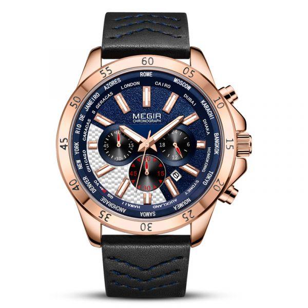 勇往直前 運動真三眼 MG2103 腕錶,手錶,男錶,三眼錶,